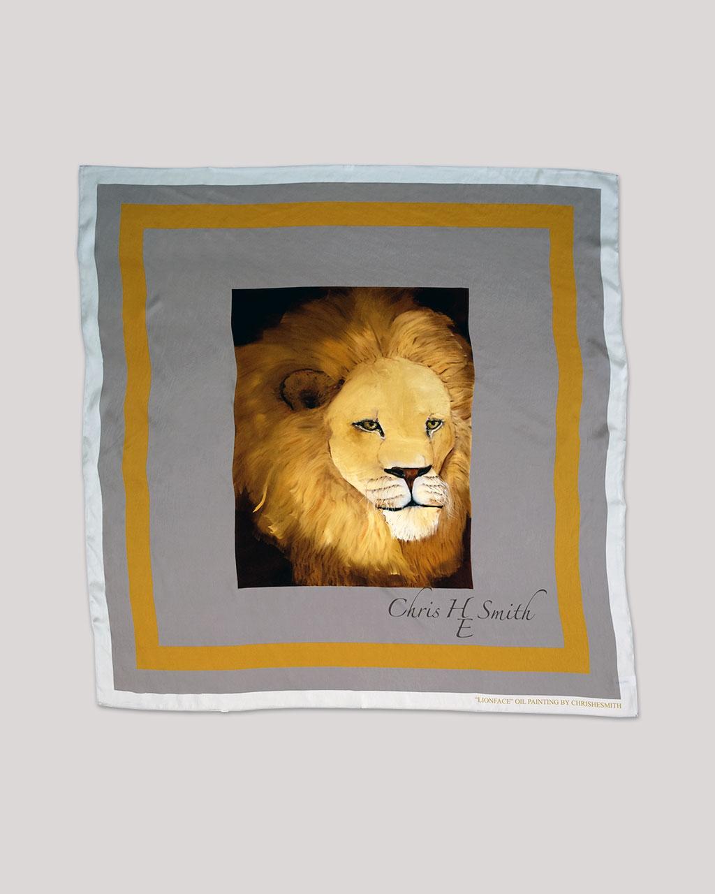 Lion-Silk-Scarf