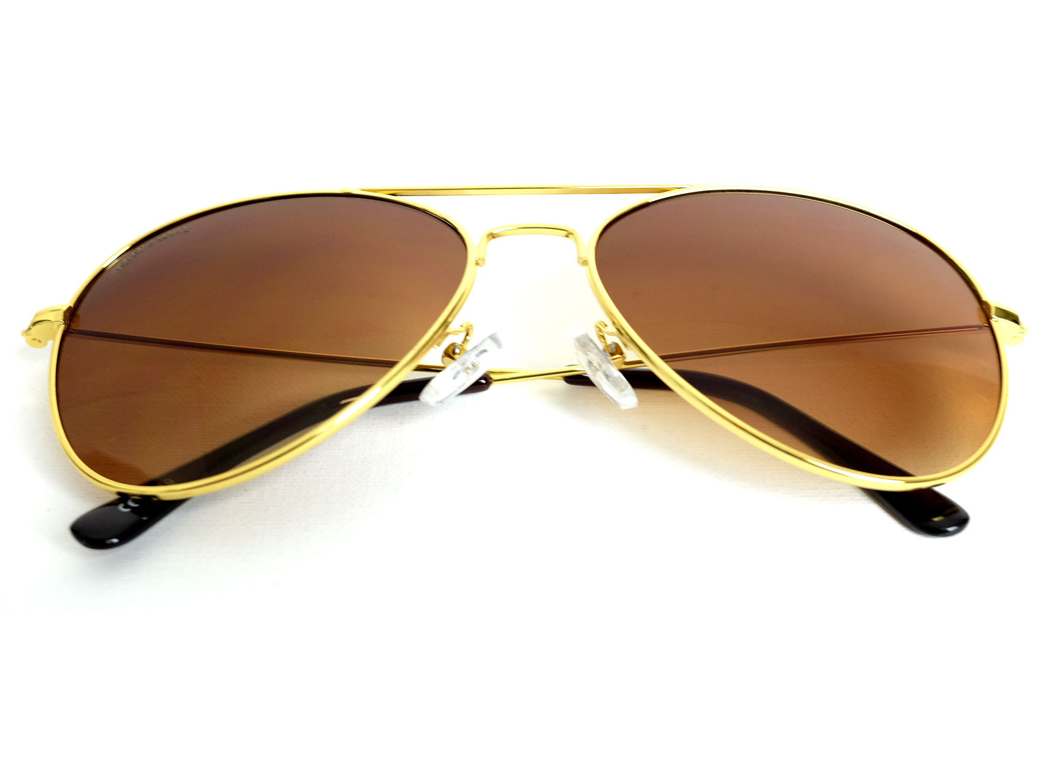 17b3660270228 Gold Metal Frame Aviator Sunglasses with Gradient Brown – URBANE ...