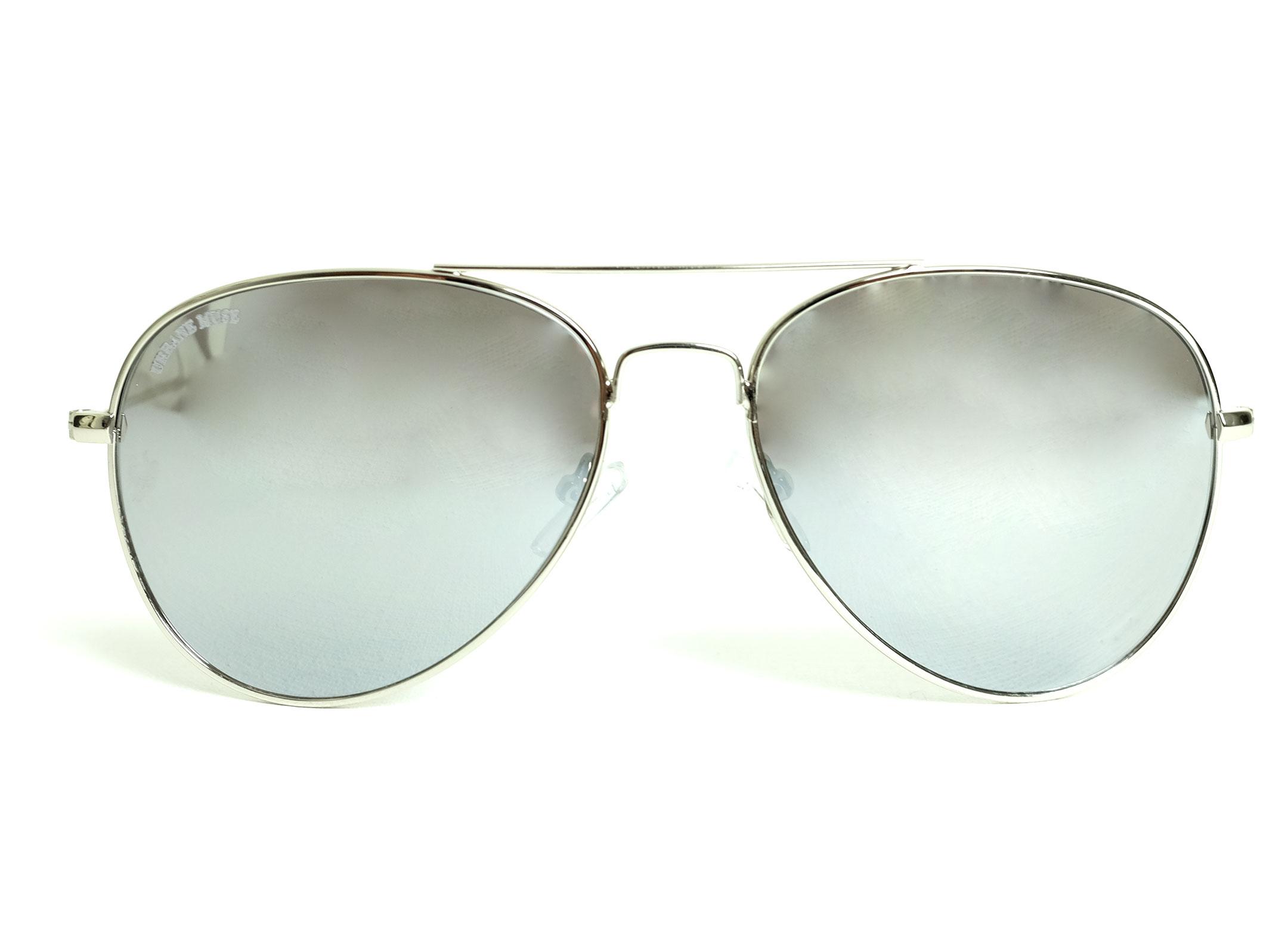 Sunglasses With Mirror Metal Silver Frame Lens Aviator f6bgyYI7v