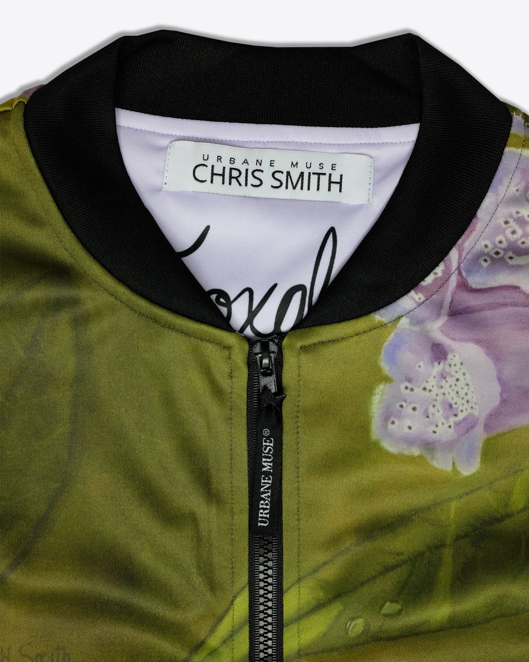 FOXGLOVE-photo3-URBANE-MUSE-CHRIS-SMITH-BOMBER-JACKET-with-Lining