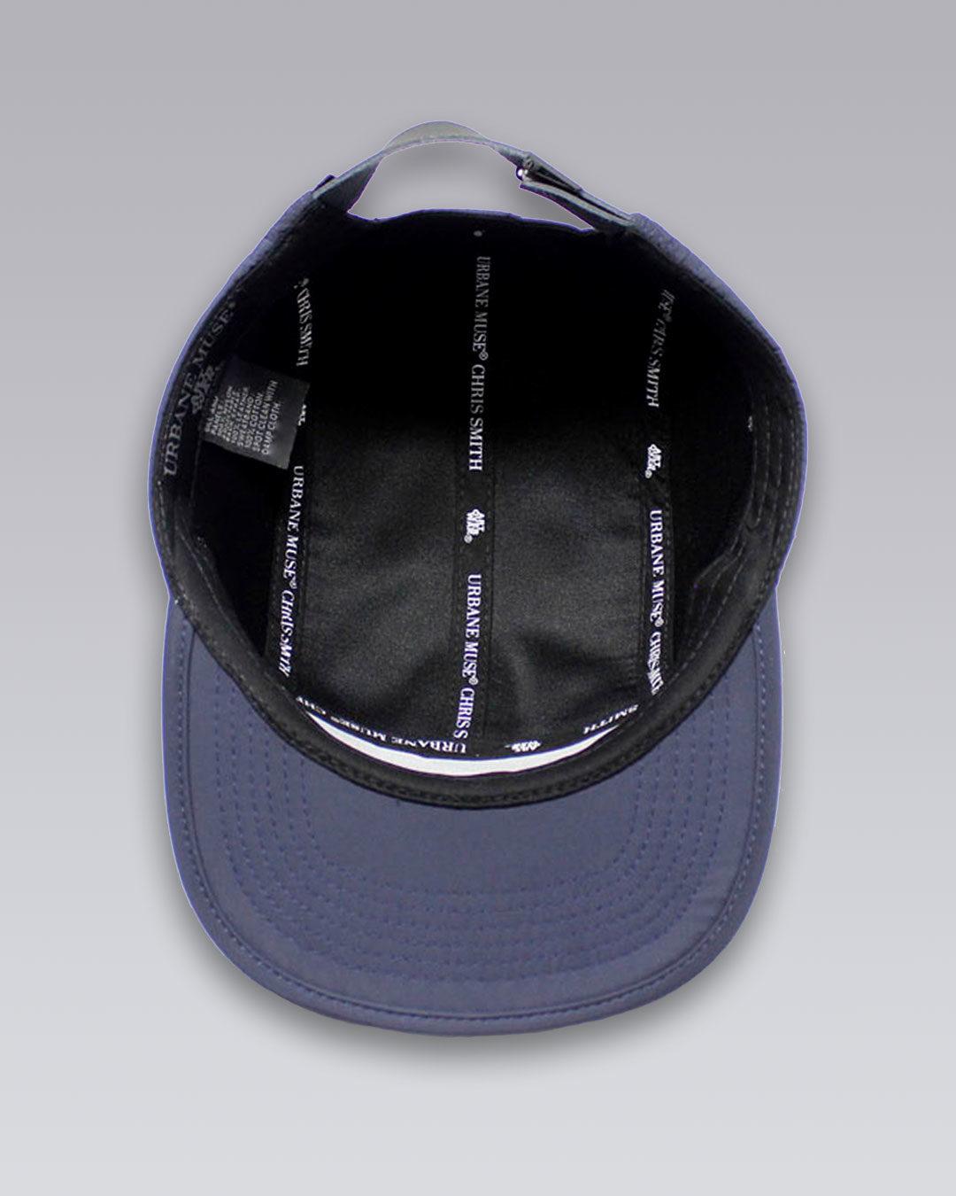 URBANE-MUSE-CHRIS-SMITH-Navy-UM-nylon-five-panel-hat-e