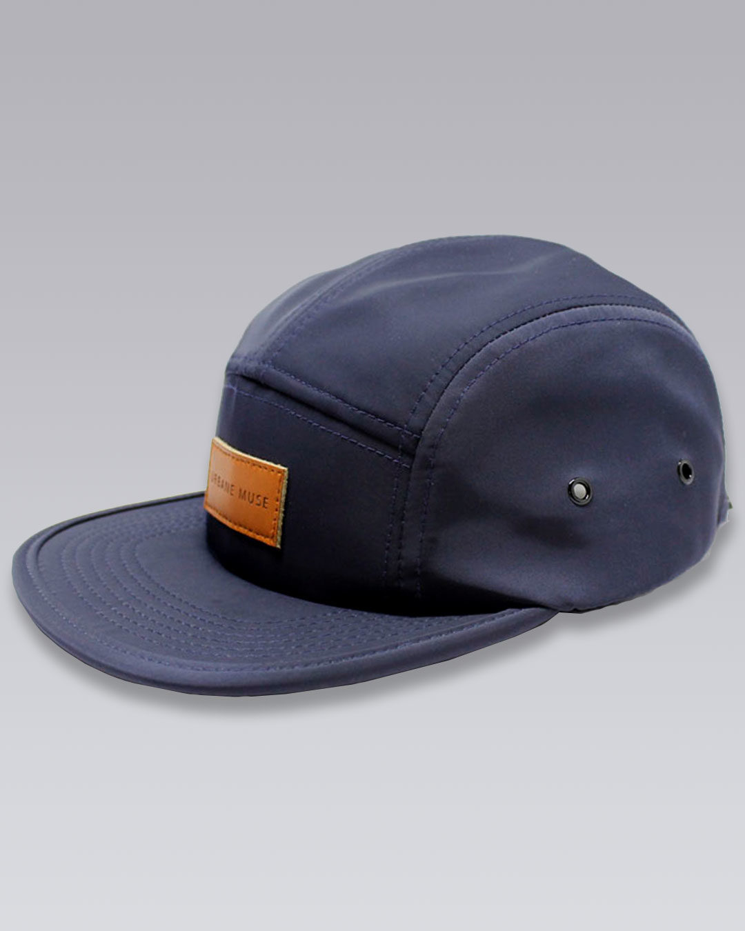 photo-2b-URBANE-MUSE-CHRIS-SMITH-Navy-UM-nylon-five-panel-hat-b
