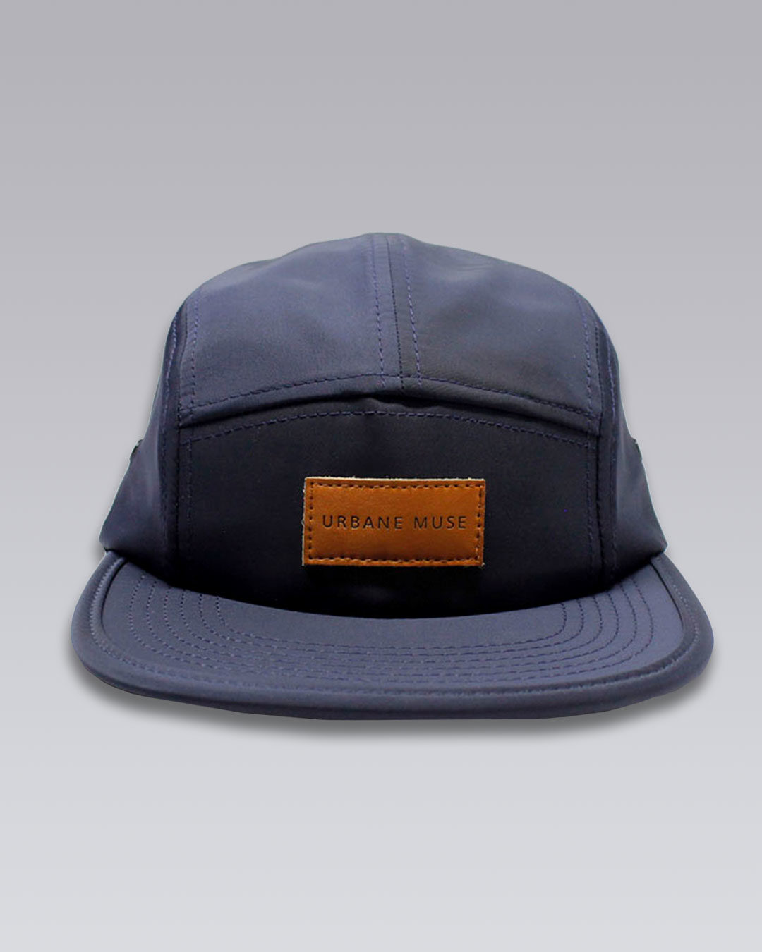 photo-1b-URBANE-MUSE-CHRIS-SMITH-Navy-UM-nylon-five-panel-hat