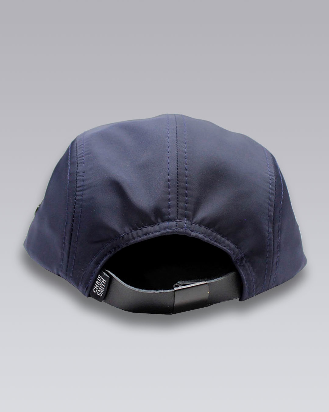 photo-2b-URBANE-MUSE-CHRIS-SMITH-Navy-UM-nylon-five-panel-hat