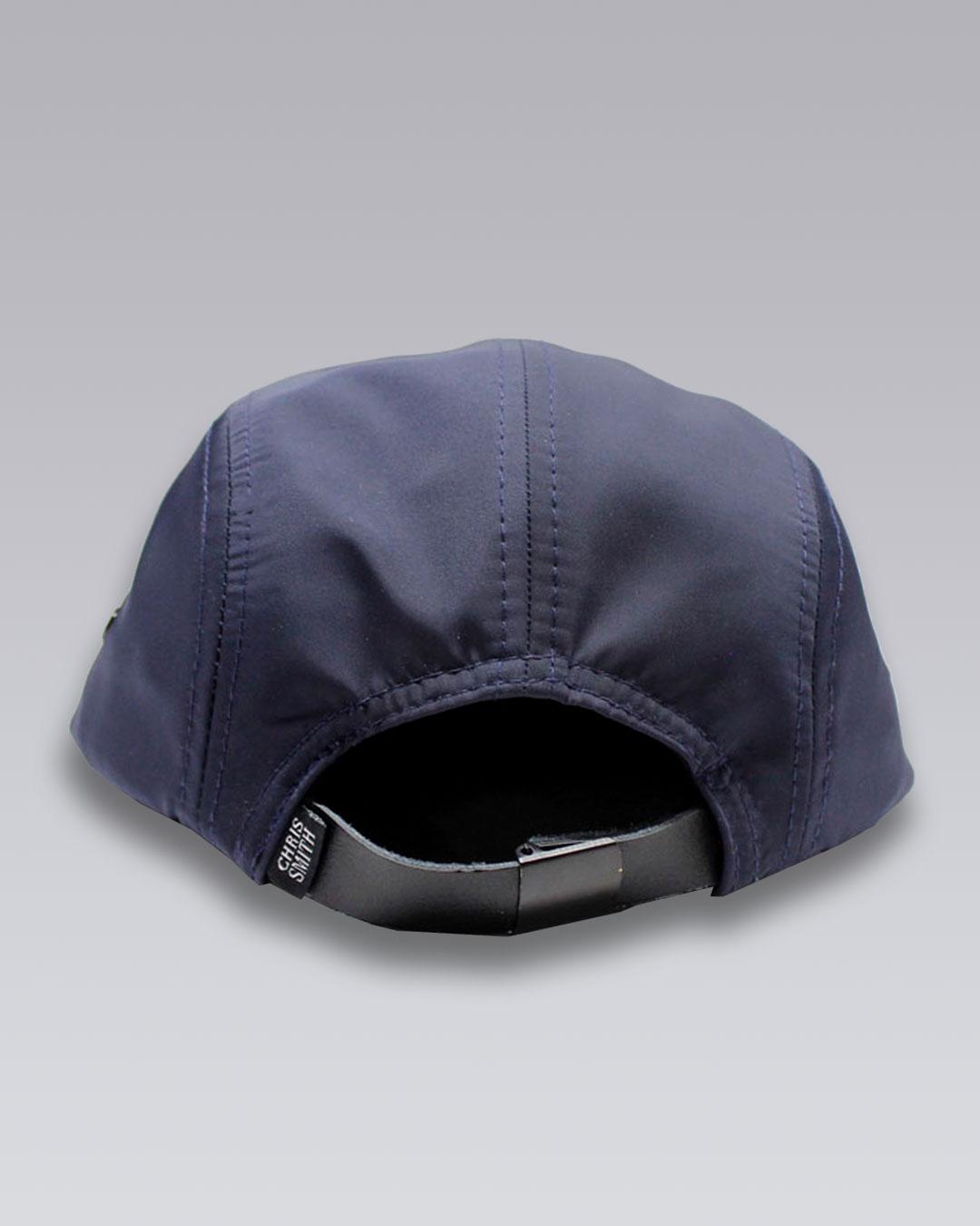 photo-2b-URBANE-MUSE-CHRIS-SMITH-Navy-UM-nylon-five-panel-hat