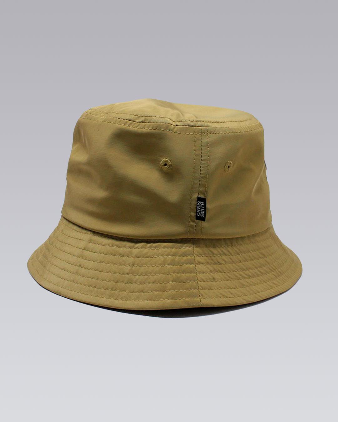 photo-2b-URBANE-MUSE-CHRIS-SMITH-Tan-AOW-nylon-bucket-hat-d