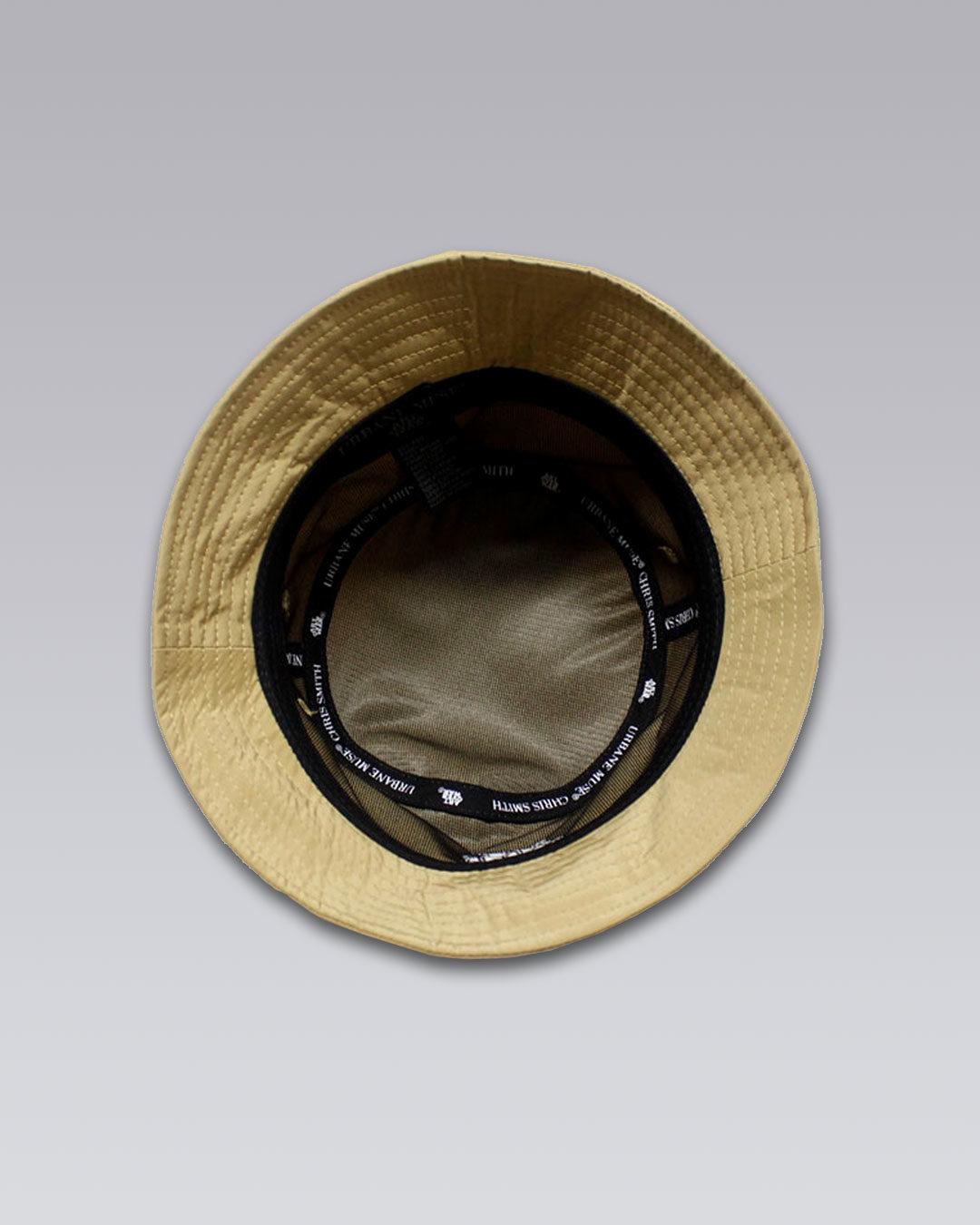 photo-3b-URBANE-MUSE-CHRIS-SMITH-Tan-AOW-nylon-bucket-hat-d