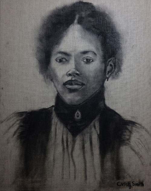 African-American-Woman-sketch-on-canvas-URBANE-MUSE-CHRIS-SMITH