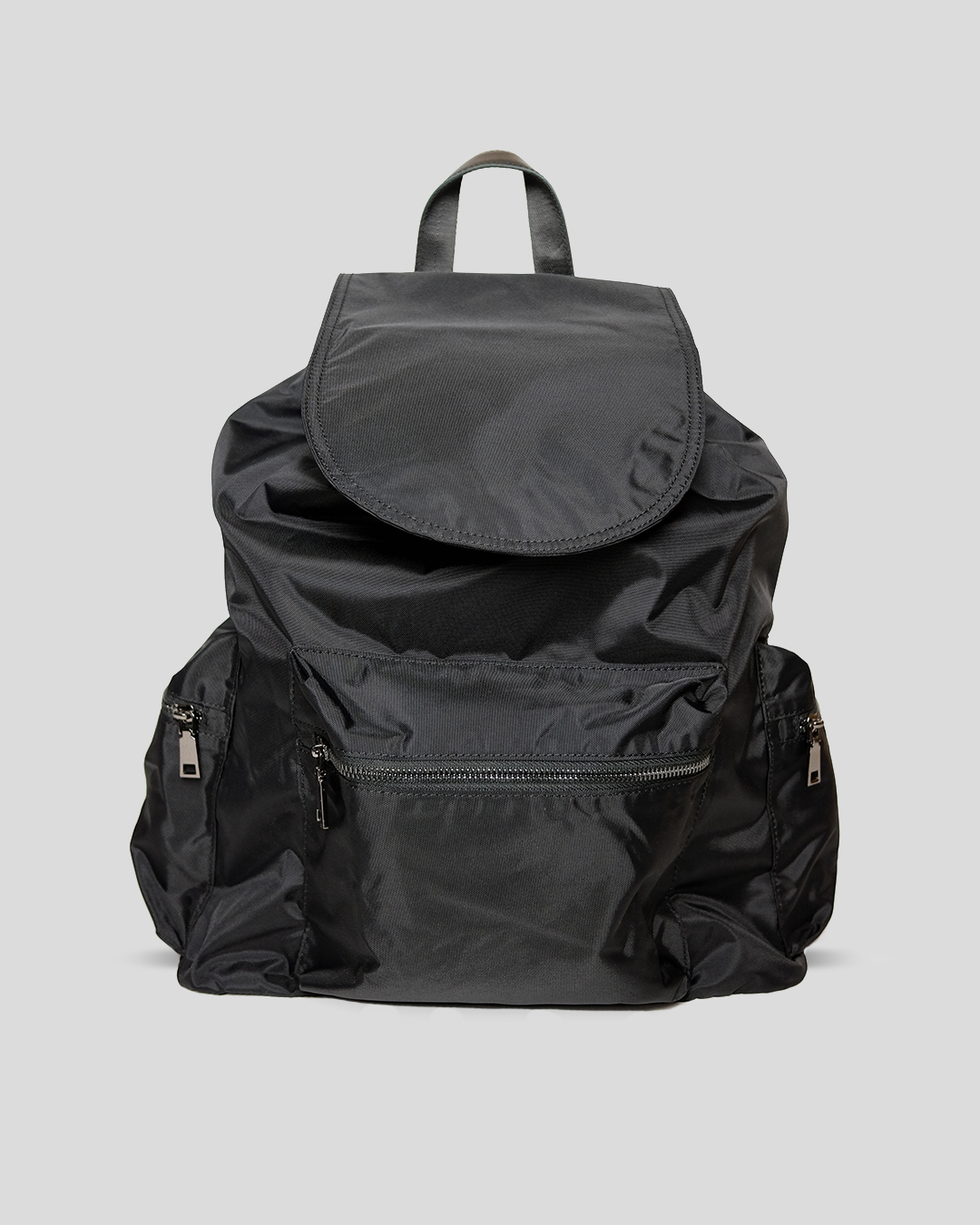 photo-1-BLACK-NYLON-RIPSTOP-BACKPACK-URBANE-MUSE-CHRIS-SMITH