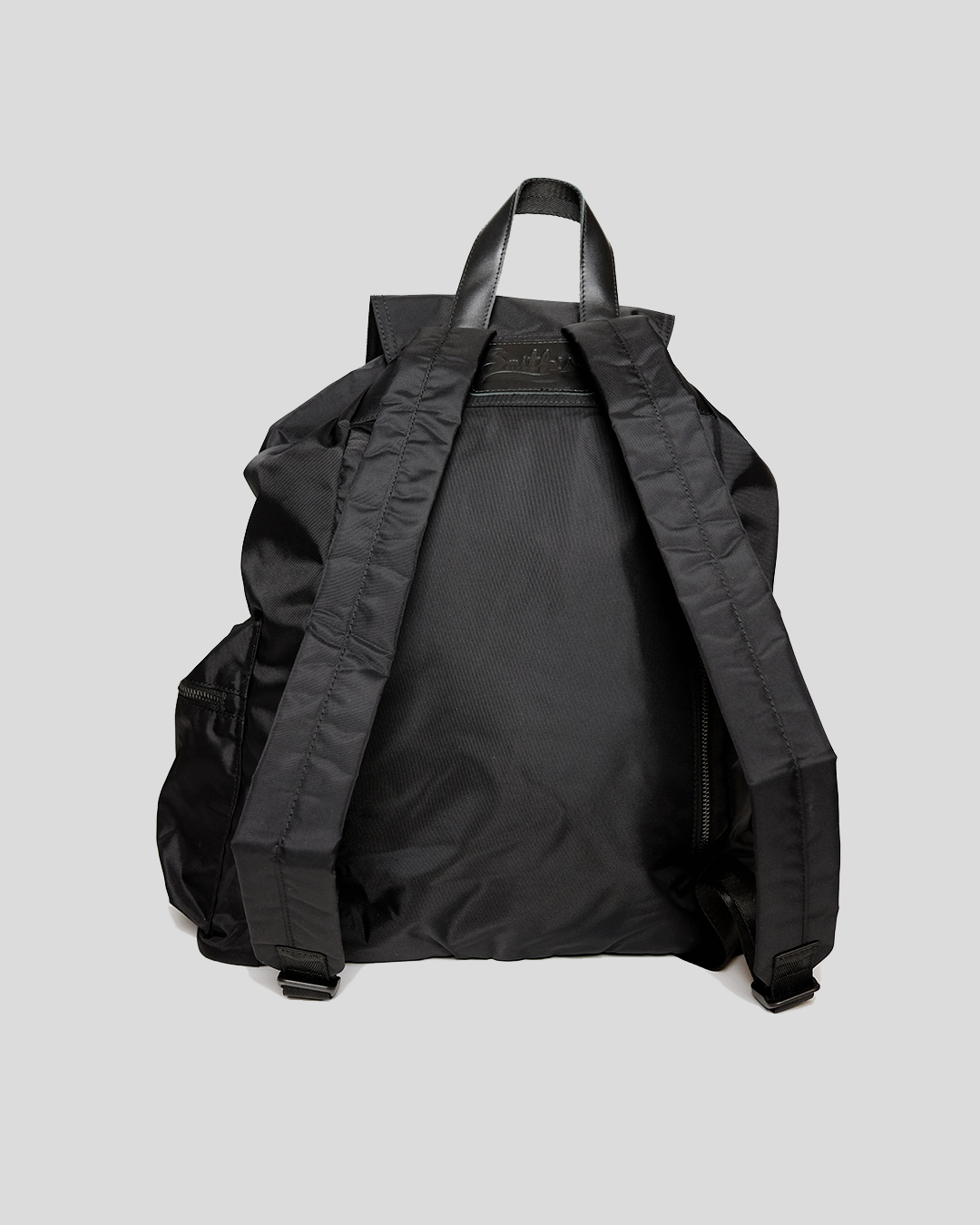 photo-3-BLACK-NYLON-RIPSTOP-BACKPACK-URBANE-MUSE-CHRIS-SMITH