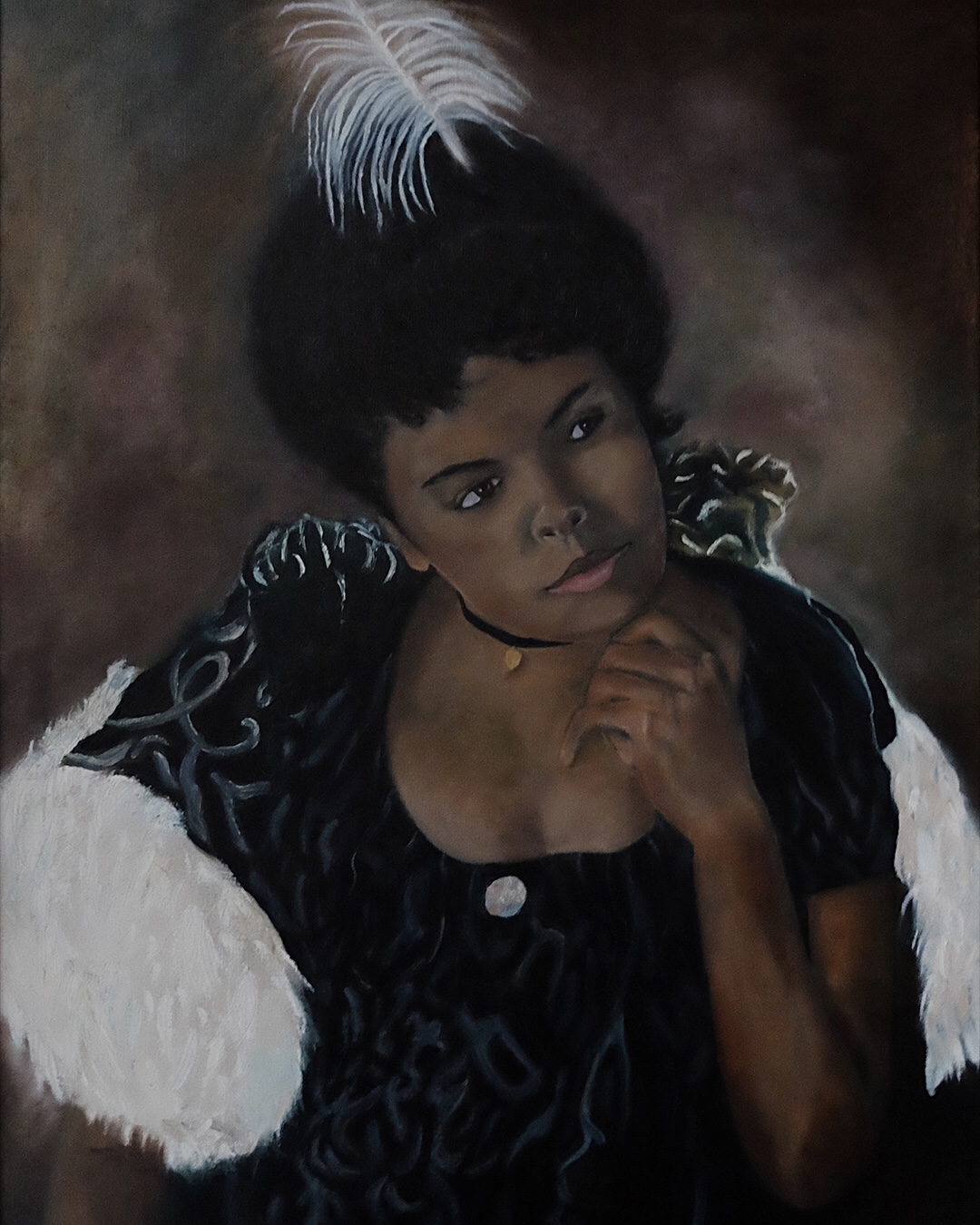 AFRICAN AMERICAN WOMAN PORTRAIT